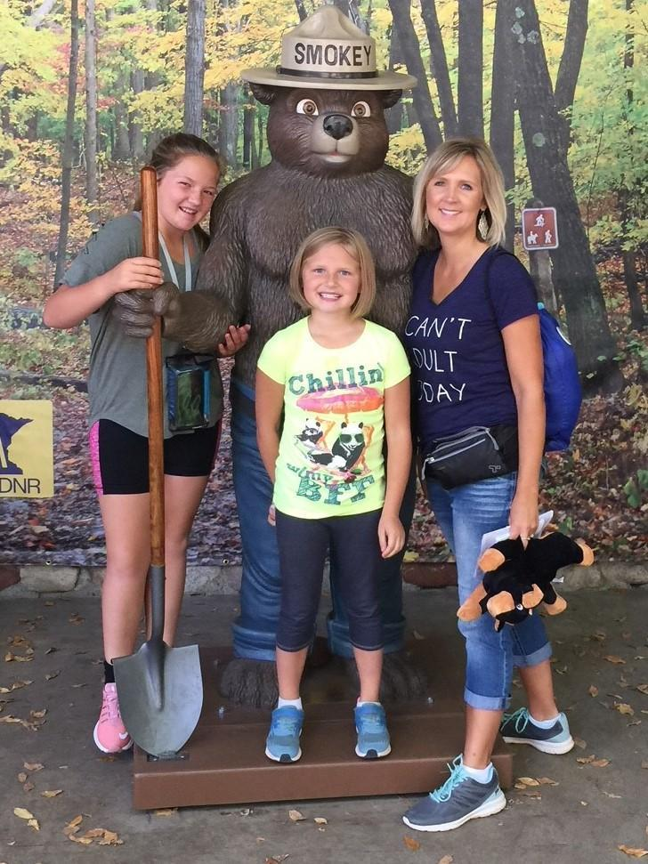 Smokey the Bear and Girlsa